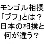 モンゴル相撲「ブフ」のルールや衣装、日本の相撲との違いとは?