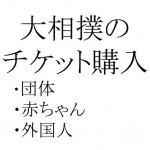 大相撲のチケットに団体、赤ちゃん、外国人向けはあるの?